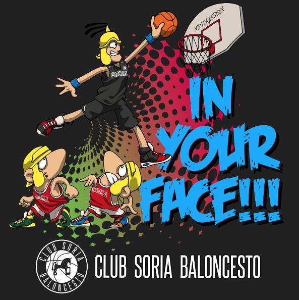 Camiseta Oficial Club Soria Baloncesto Negra