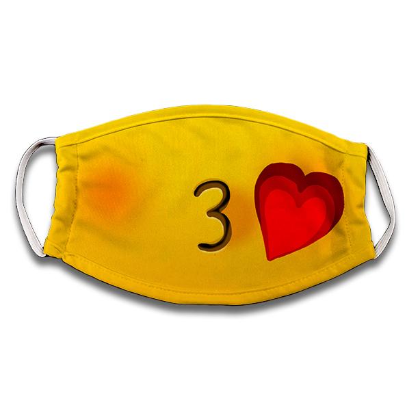 Mascarilla Emoji amoroso